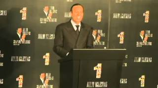 Julio Iglesias Conferencia de Prensa