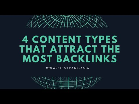 4 Content Types That Attract the Most Backlinks