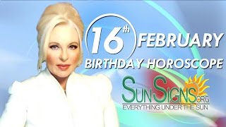Birthday February 16th Horoscope Personality Zodiac Sign Aquarius Astrology