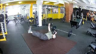 Жим гантелей с пола 32,5 + 32,5 кг./ Функциональный бодибилдинг