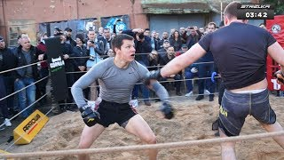 A RUGBY PLAYER vs TWO MMA FIGHTERS !!! CRAZY !!!!