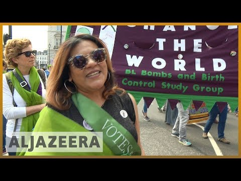 🇬🇧 UK: Tens of thousands march to mark 100 years of women's suffrage | Al Jazeera English