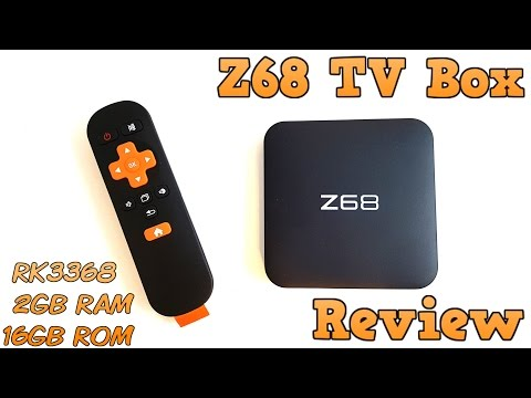 Z68 TV BOX REVIEW - RK3368, 2GB RAM, 16GB ROM, Android 5.1