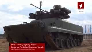 Russian BMP-3 Infantry Fighting Vehicle Converted To Unmanned Vehicles
