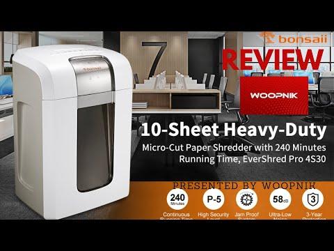 Bonsaii 4S30 Paper Shredder – Review.