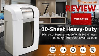 Bonsaii 4S30 Paper Shredder - Everything you need to know.