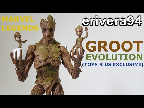 Marvel Legends Groot Evolution Figure Review Toys R Us Exclusive