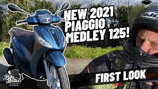 2021 Piaggio Medley 125cc Euro5 | First Look and Specs!