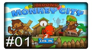 preview picture of video 'TOWERDEFENSE MIT WIRTSCHAFT #01 || Let's Play Bloons Monkey City | Deutsch'
