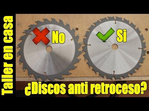 Discos para sierra circular anti retroceso / anti contragolpe / anti kickback