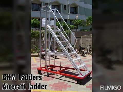 Silver Aluminum Step Ladder