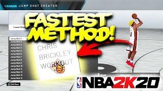 The FASTEST Way To Unlock Custom Jumpshot Creator In NBA2K20! Easiest Method
