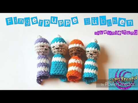 einfache Fingerpuppe Bübchen häkeln , easy crochet finger doll