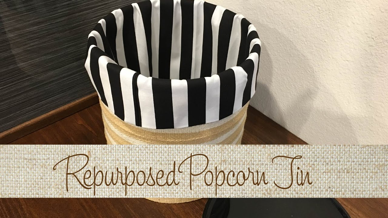 Repurposed Popcorn Tin
