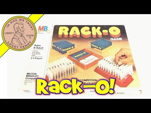 Rack-O Board Game #4765, 1978 Milton Bradley Toys - Keen Competition for 2, 3 or 4 Players