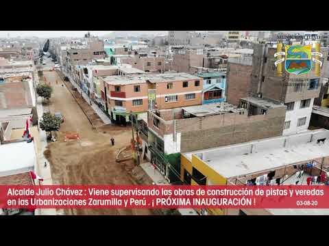 REINICIO DE OBRAS URB ZUMILLA Y URB PERU