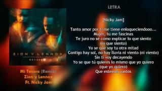 Mi Tesoro (Letra) - Zion y Lennox Ft. Nicky Jam + Descarga Mp3