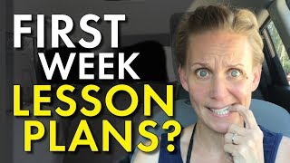 First Week Lesson Plans – Five Days Of High School English, Teacher Vlog