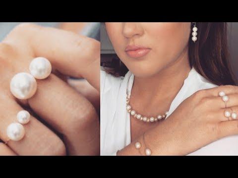 DIY Pearl Jewelry I DIY Perlen Schmuck I DIY Ringe, Ohrringe, Kette & Armband.. I Marina Si