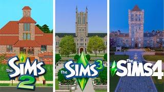 ♦ Sims 2 vs Sims 3 vs Sims 4 : University (Part 1)