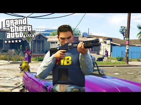 Grand Theft Auto V Walkthrough - GTA 5 Mods - PLAY AS A COP MOD #12