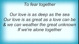 Barry Manilow - Alone Together Lyrics