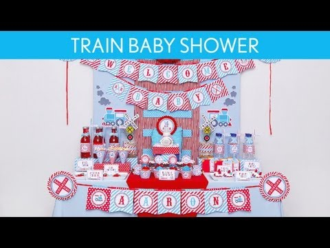 Train Baby Shower Party Ideas // Train - S4