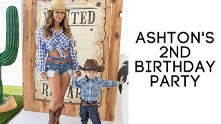 TODDLERS WESTERN COWBOY THEMED BIRTHDAY PARTY   Ashton Carter Turns 2yrs Old!