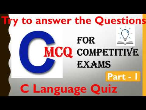 C Language Multiple Choice Questions for Competitive Exams    C ...