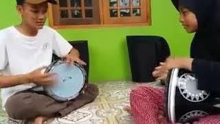 Viral FB || Duet Darbuka Kakak Adik