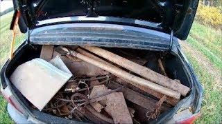 Полный багажник металлолома, пуля и первый совет