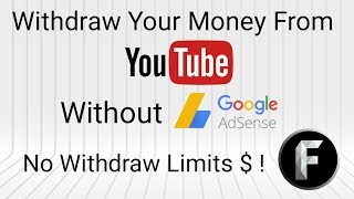 How to Withdraw Money From Youtube Without Adsense To Reaching 100$ in telugu techtats