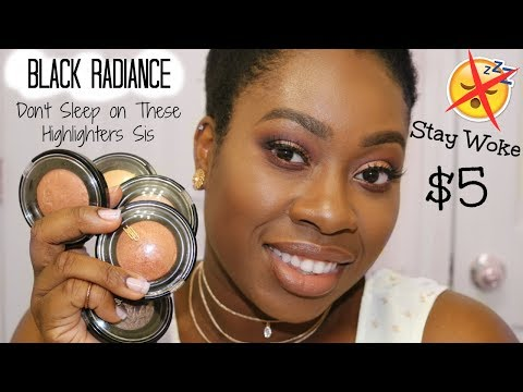 Black Radiance Highlighter & Bronzer Review   Underrated $5 Drugstore Highlighters!!!!