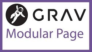 Grav CMS   creating a modular page