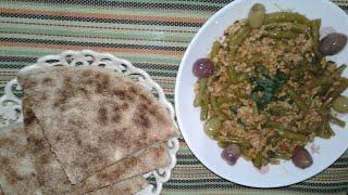 لوبيا خضراء باللحم المفروم طبق خفيف سهل التحضير وذوق روعة
