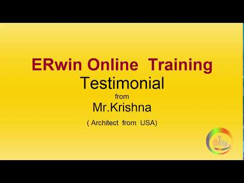 Erwin Online Training Testimonial