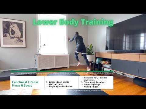 Workout video for Hinge & Squat - Functional Fitness