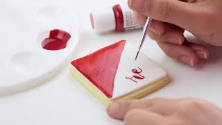 Red Half Cookie - Edible Art Decorative Cake Paint