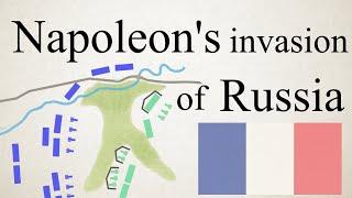 Napoleon's invasion of Russia visualized