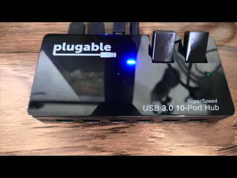 Plugable USB 3.0 10-Port Hub With 48W Power Adapter Review