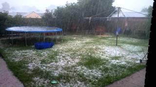preview picture of video 'Wangaratta Rain/Hail'