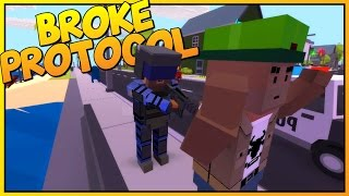 Broke Protocol - Low Poly GTA Online Meets Unturned [Let's Play Broke Protocol Gameplay]