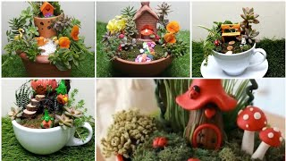 Fairy Garden Ideas || Miniature  Garden Ideas || Mini Jardim || Teacup Garden Art || Diy Garden