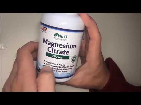 Citrato de Magnesio 200 mg 180 Comprimidos por Nu U,  Complemento especial vegetarianos