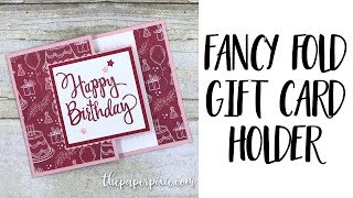 Fancy Fold Gift Card Holder