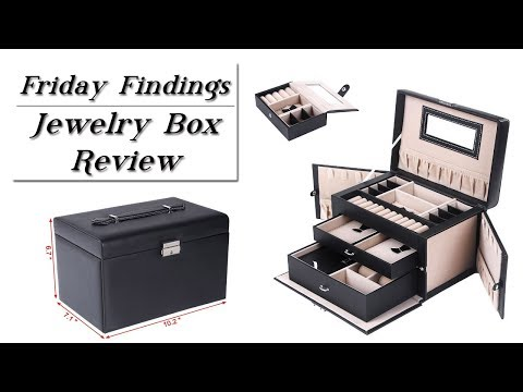 Jewelry Box-Organizer-Travel Case-Lockable-Friday Findings Product Review