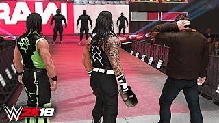 WWE 2K19 Custom Story - The Shield Unmasks Masked Faces Raw 2019 ft. Lesnar, Reigns - Part 3