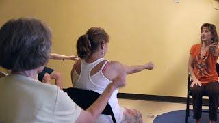 (1 Hr) Chair Yoga Class: Banishing Back Pain Naturally with Sherry Zak Morris, E-RYT