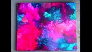 DIY: Melted Crayon Art 2.0 - Abstract Colour Burst ♡ Theeasydiy #ArtForTheNonArtist