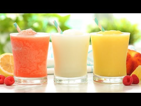 Frozen Lemonade | 3 Delicious Ways | Frosty Summer Drinks